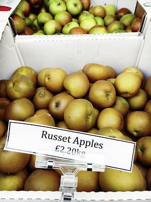 Russet Apples For Sale Poster by Tom Gowanlock