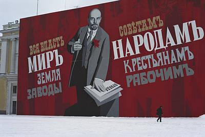 Russia, St. Petersburg, Soviet Era, Man Poster by Keenpress