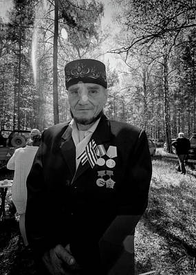Poster featuring the photograph Russian Afghanistan War Veteran by John Williams