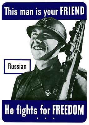 Russian - This Man Is Your Friend Poster by War Is Hell Store
