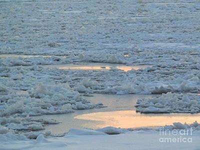 Russian Waterway Frozen Over Poster by Margaret Brooks