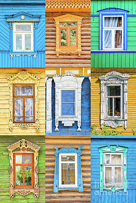 Poster featuring the photograph Russian Windows by Delphimages Photo Creations