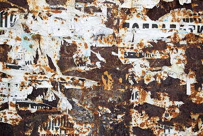 Poster featuring the photograph Rust And Torn Paper Posters by John Williams