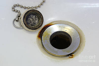 Rust Around Sink Drain Poster by Scimat