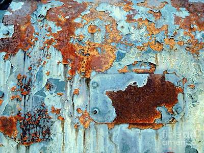 Rust - My Rusted World - Train - Abstract Poster by Janine Riley