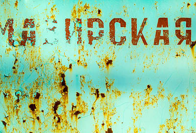 Poster featuring the photograph Rust On Metal Russian Letters by John Williams