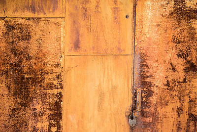 Poster featuring the photograph Rust On Metal Texture by John Williams
