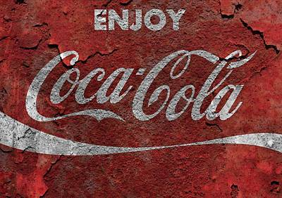 Rusted Coca Cola Metal Sign Poster by Dan Sproul