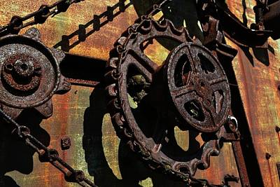 Rusted Gears Poster by Michelle Calkins