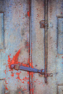 Rusted Iron Door Handle Poster by David Letts