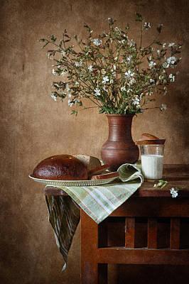 Rustic Bread Poster by Nikolay Panov