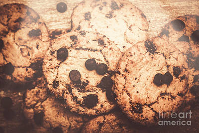 Rustic Chocolate Chip Cookie Snack Poster by Jorgo Photography - Wall Art Gallery