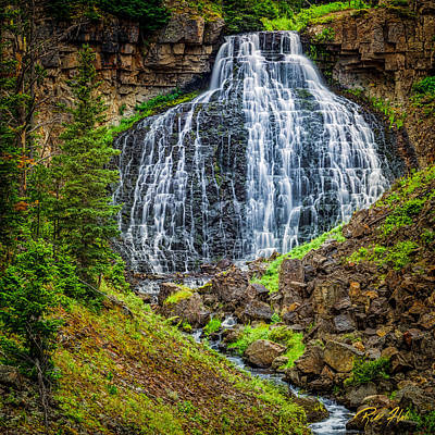 Poster featuring the photograph Rustic Falls  by Rikk Flohr