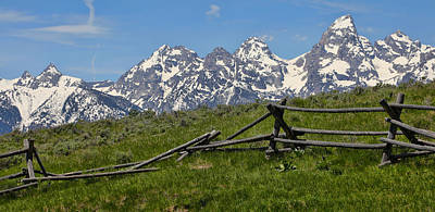 Rustic Fence And Teton Range Poster