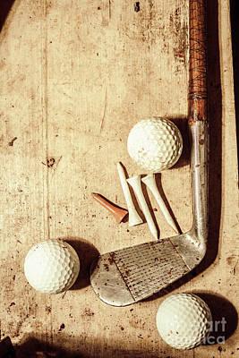Rustic Golf Club Memorabilia Poster by Jorgo Photography - Wall Art Gallery