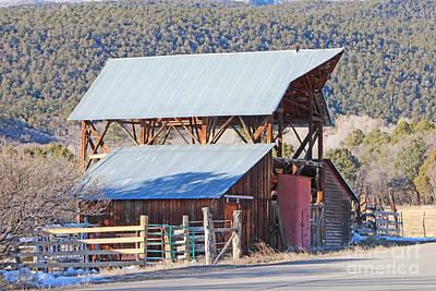 Rustic Hay Barn Cedaredge Colorado Poster