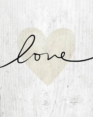 Rustic Love Heart- Art By Linda Woods Poster