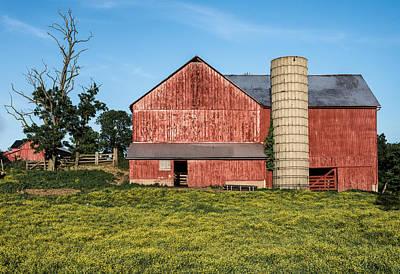 Rustic Red Barn Poster by Matt Hammerstein