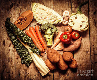 Rustic Style Country Vegetables Poster
