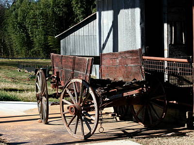 Rustic Wagon Poster