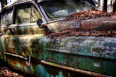 Rusty Cadillac Poster