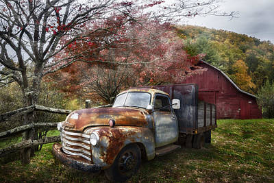 Rusty Chevy Pickup Truck Poster