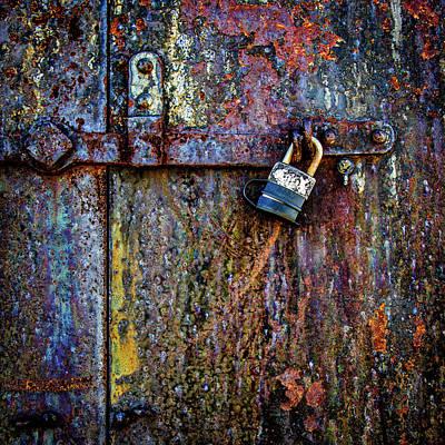 Rusty Door Of The Gun Battery 1.1 Poster by Robert Anastasi
