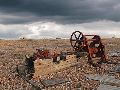 Rusty Gears Abandoned On The Beach Poster