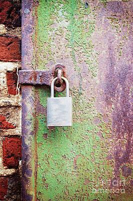 Rusty Metal Door Poster