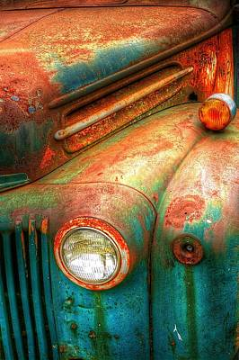 Rusty Old Ford Poster by Randy Pollard