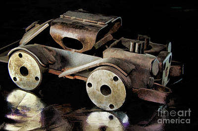 Poster featuring the photograph Rusty Rat Rod Toy by Wilma Birdwell