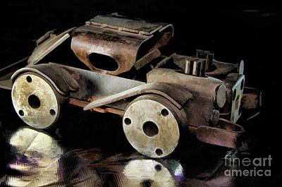 Rusty Rat Rod Toy Poster by Wilma Birdwell