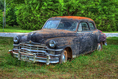 Rusty Top 1949 Chrysler 2 Door Sedan Art Poster