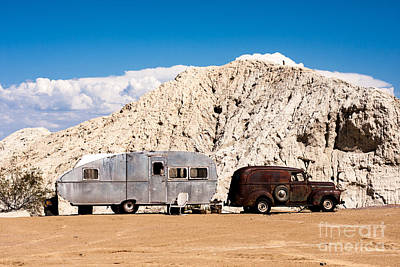 Rusty Truck And Aluminum Trailer Poster