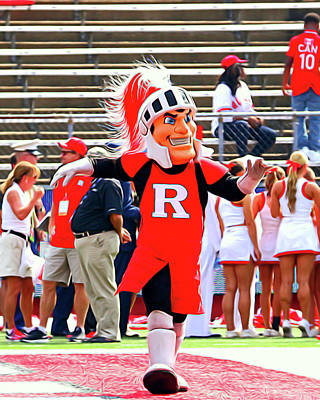 Rutgers Scarlet Knight Mascot Poster by Allen Beatty