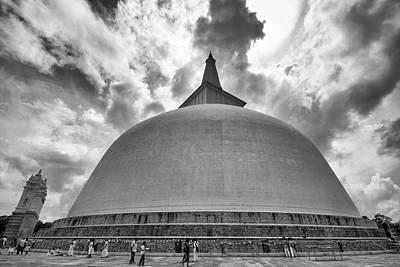 Poster featuring the photograph Ruwanwelisaya, Anuradhapura, 2012 by Hitendra SINKAR