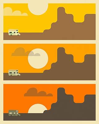 Rv Sunset Poster