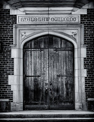 Ryals Law Building Door - Mercer University Poster by Stephen Stookey