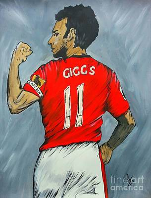 Ryan Giggs Poster by Collin A Clarke