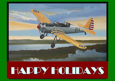 Poster featuring the digital art Ryan Pt-22 Happy Holidays by Stuart Swartz