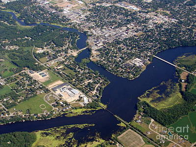 S-017 Shawano City And Wolf River Poster