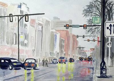 Poster featuring the painting S. Main Street In Ann Arbor Michigan by Yoshiko Mishina