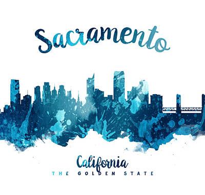 Sacramento California 27 Poster by Aged Pixel