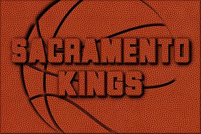 Sacramento Kings Leather Art Poster by Joe Hamilton