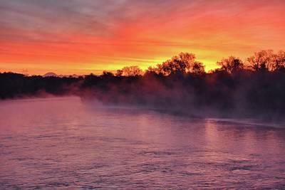 Sacramento River Sunrise Poster