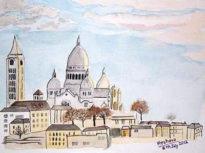 Sacre Coeur Poster by Keshava Shukla
