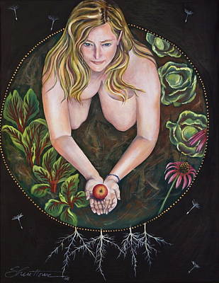 Poster featuring the painting Sacred Circle 1 by Sheri Howe