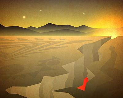 Poster featuring the digital art Sacred Desert Vista by Milton Thompson