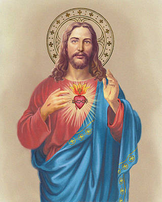 Sacred Heart Poster by Valer Ian