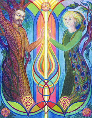 Sacred Union Poster by Debra A Hitchcock
